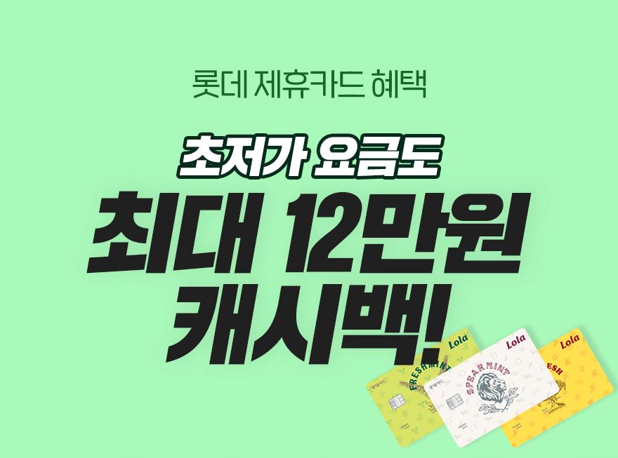 롯데제휴카드 캐시백